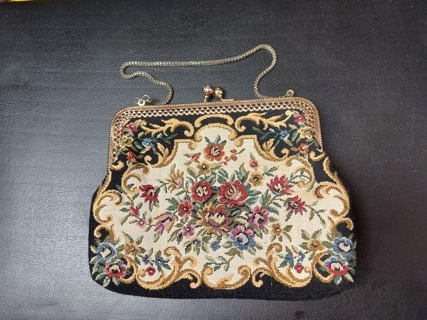 Mała gobelinowa torebka damska Vintage