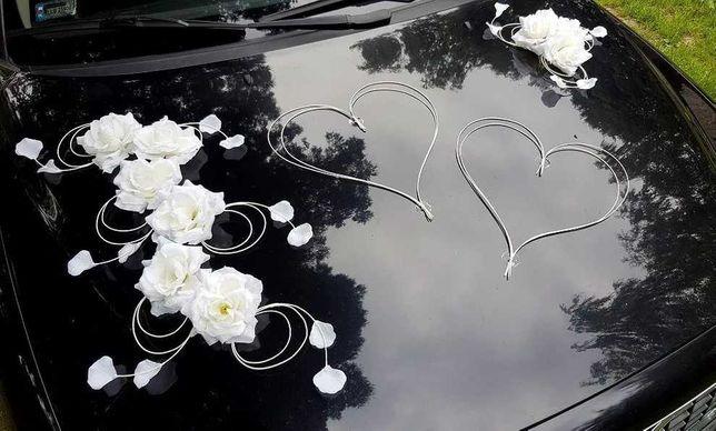 Dekoracja na auto róże