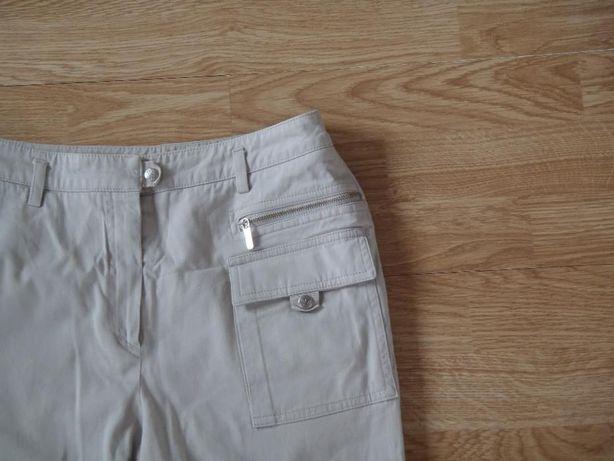 Spodnie na lato beżowe military r. 36