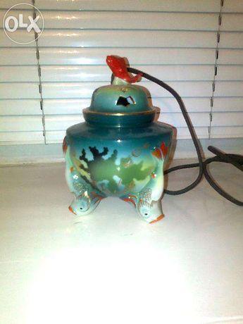 Лампа ваза фарфор Барановка авторская светильник ночник ароматница