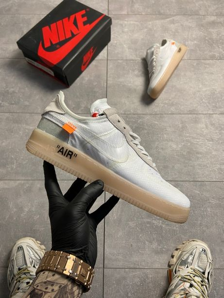 Кроссовки женские ТОП!!! Off-White x Nike Air Force 1 Low White Brown