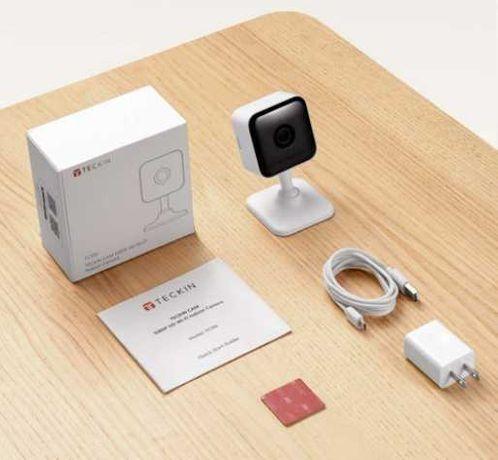 Novas! Camara Teckin Google Home Alexa wifi audio ir nocturna c APP