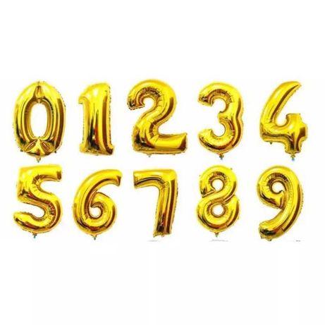 Balony 30 urodziny złote 32 cale