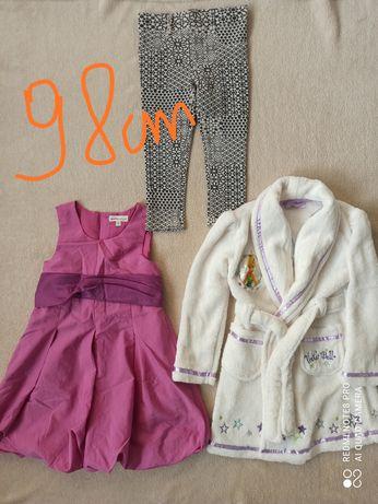 Zestaw paka ubrań dla dziewczynki na 98 cm