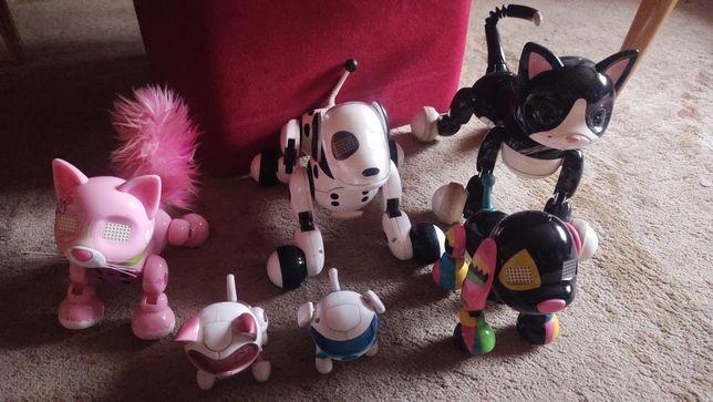 Zestaw zwierzaków robotów