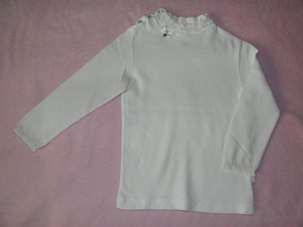 Белая нарядная кофта, реглан, свитшот 1,5-3г 200руб.