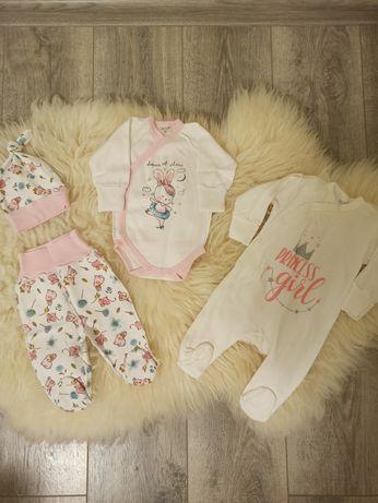 Набор вещей в роддом на новорожденного, боди ползунки человечек