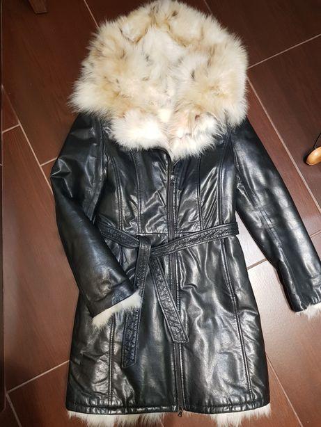 Пальто куртка кожаная 42 размер