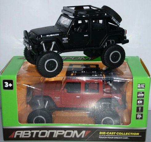 Jeep Wrangler Rubicon модель Автопром 1:32 Металл, Звук, Свет