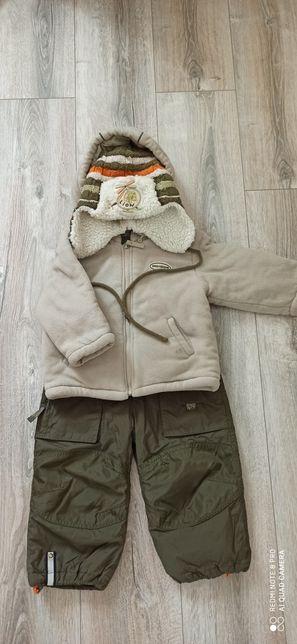Теплый комбинезон куртка курточка полукомбинезон деми