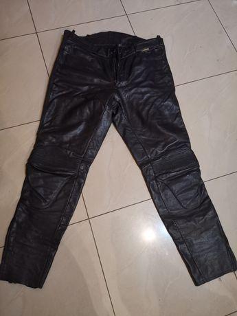 Spodnie motocyklowe XXL skóra, duży rozmiar