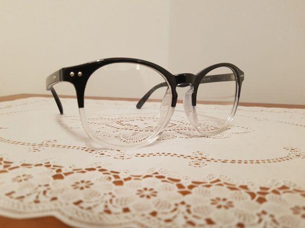 Oprawki okulary damskie męskie uniseks czarno przezroczyste moda Nowe