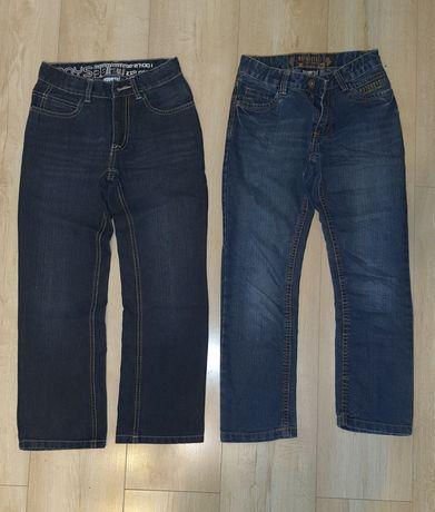 Spodnie jeansowe chłopięce rozmiar 134 (cena za 2 szt)