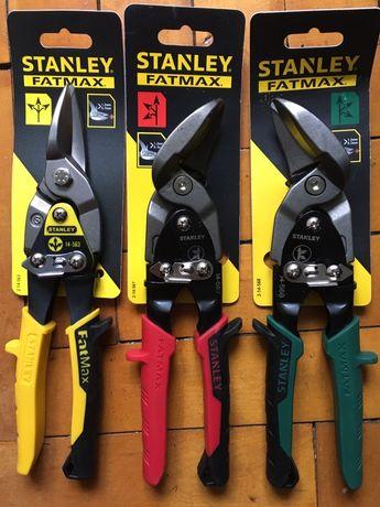 Ножницы по металлу изогнутые правые и левые (Stanley Fatmax 250мм)