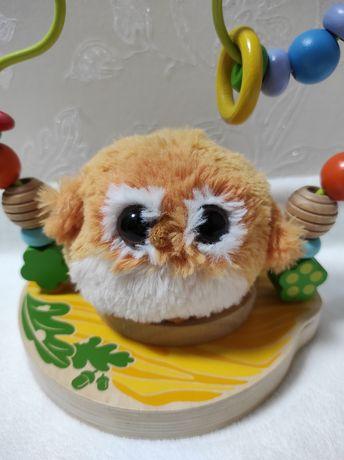 Лабиринт, пальчиковый лабиринт, развивающая деревянная игрушка, сова
