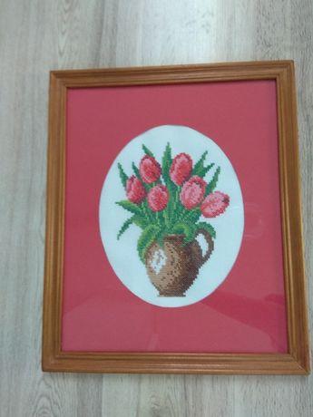 Tulipany - haft krzyżykowy