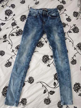 Spodnie high waist jeansowe jeansy wysoki stan xs 34 s 36