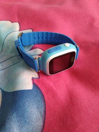 Смарт бэби воч умные часы детские Q90 синие