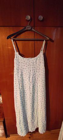 letnia zwiewna sukienka na ramiączkach, długa, r. 48