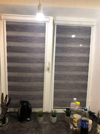 Ролеты тканевые на окна,болконы(день-ночь)Рулонные шторы,Римские шторы