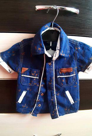 Рубашка для мальчика, короткий рукав,р.68,нарядная рубашка