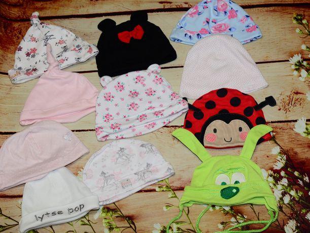 шапочки для новорожденных на 0-3-4-5-6 месяцев