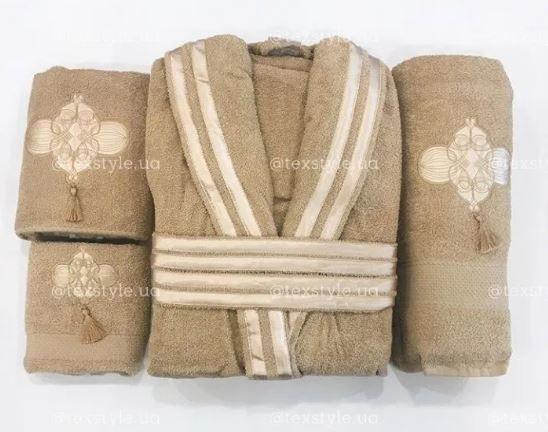 Шикарный Подарочный Набор из 4 предметов Халат и 3 Полотенца