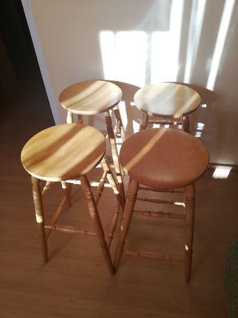 krzesła drewniane hokery 4szt