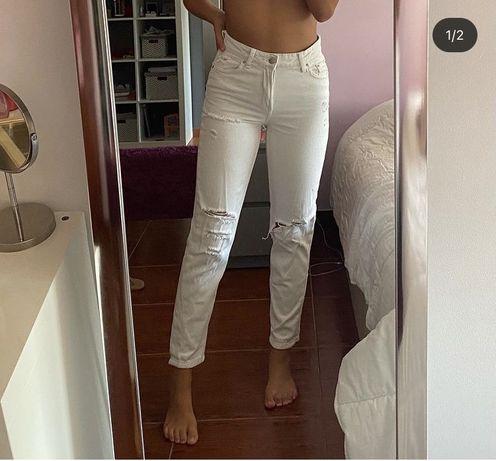 Mom Jeans Brancas