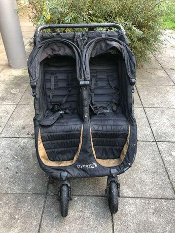 Carrinho de Bebê Para Gemeos Baby Jogger City Mini Preto