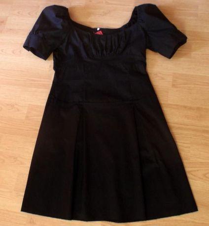 TIFFI - czarna elegancka sukienka M - Studniówka