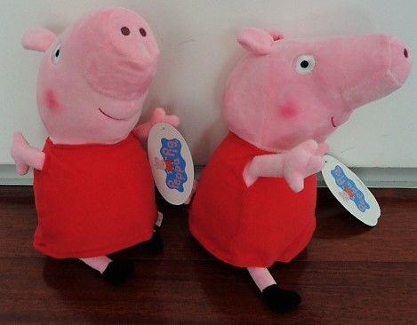 peluche porca peppa pig porquinha peppa com 40 cm novo e com etiqueta