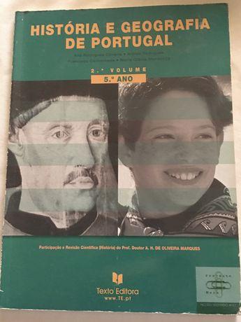 Livro de História e Geografia de Portugal 5 Ano