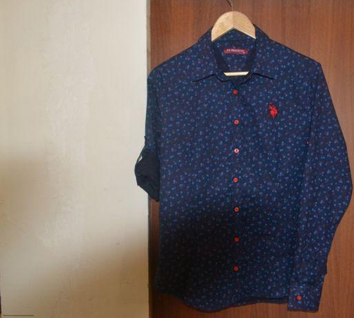 Рубашка темно синяя