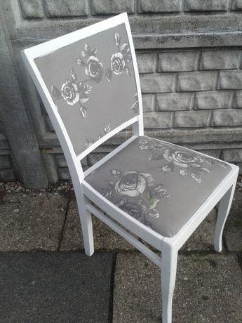 Antyk, stare krzesło białe zabytkowe, przełom XIX i XX wiek, za 100 zł