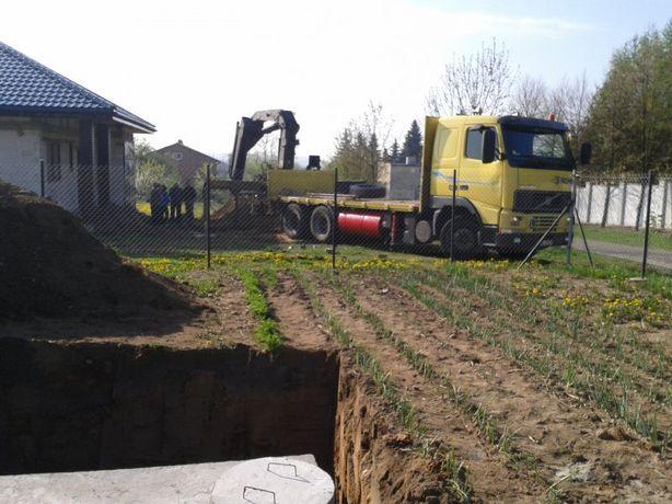 Szamba Szambo betonowe kanalizacja Transport Montaż Koparka dojazd