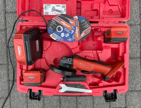 Szlifierka kątowa akumulatorowa Hilti AG 125-A22 B22 2x5,2 Ah Bosch