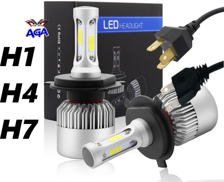 Żarówki LED S2-H1 , H4 , H7 16000lm 6500K/2x36W Częstochowa - image 1