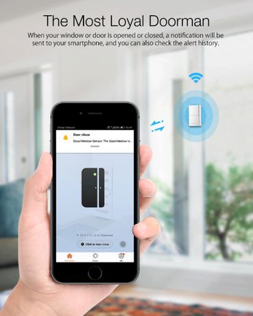 Sensor de Janela / Porta - Sem Fios Alarme de Movimento na APP