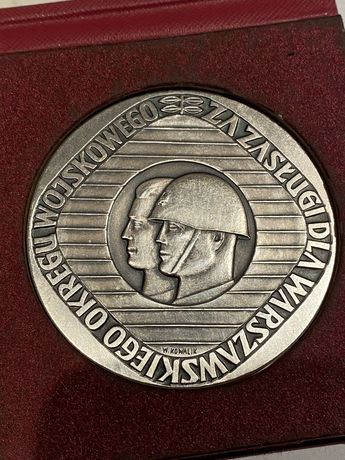 Medal Za Zasługi dla Warszaw. Okręgu Wojskowego 1970 Mennica Państ