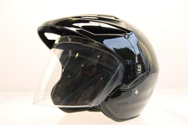 Kask motocyklowy otwarty z daszkiem szyba skuter czoper chopper quad