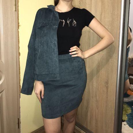 Жіночий костюм (юбка+піджак)
