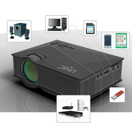 Projector de video -imagem – PC- Smartphone com suporte wifi