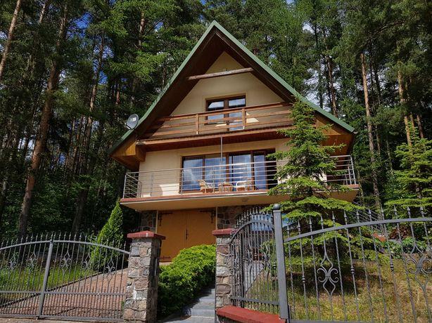 Dom na FERIE ZIMOWE z kominkiem nad jeziorem, w lesie, Kaszuby
