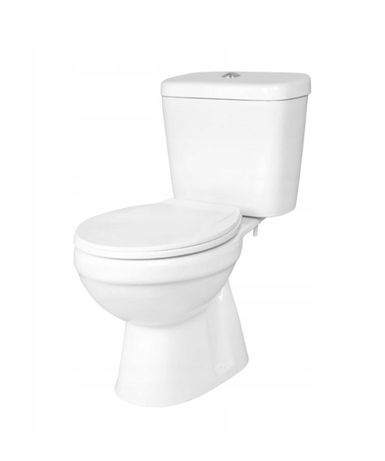 Zestaw WC Kompakt C-Clear Aqua Deska Odpływ Pionowy