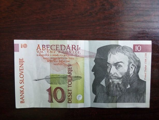 Banknot 10 tolarjev Słowenia
