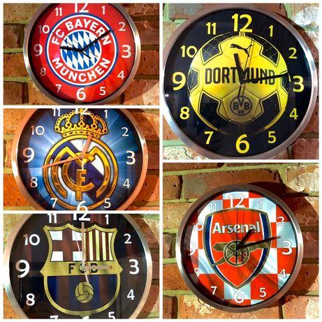 Zegar Ścienny Bayern Monachium BVB FC Barcelona Real Madryt Arsenal