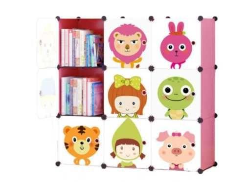 SZAFKA MODUŁOWA REGAŁ Szafa Garderoba Dla Dzieci - 5 Wzorów