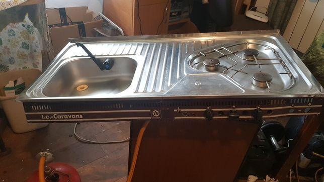 Zlewy kuchenka gazowa do przyczepy 50x102