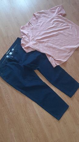 Jeansy damskie i bluzeczka rozmiar 48